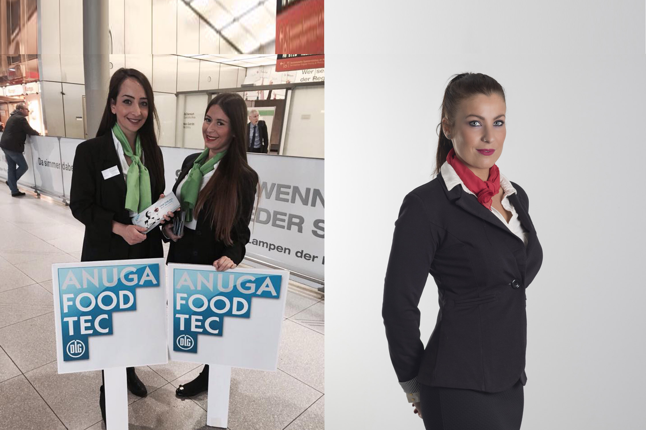 Hostessen, Host, Laufkostüme, Personal, Messe Briefing, Hostessen Köln, geschultes Personal, Messepersonal, Eventhostessen, Veranstaltungshostessen, Hostess, trade fair hostess, Promotion, Servicekraft, Kellner, Promotionagentur, Servicepersonal